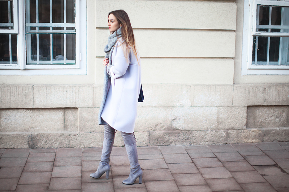 grey-cocoon-coat-over-the-knee-boots-street-style