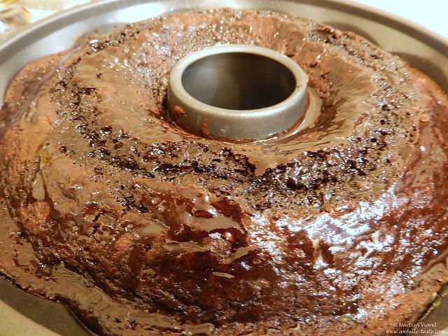 black chocolate party cake