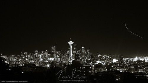 Seattle at night - mono: Week 8 of 52