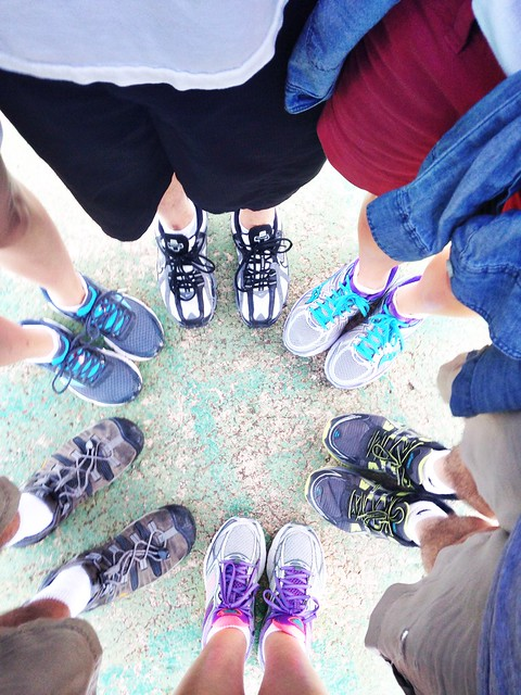 And all six of us at the bottom for a feet selfie
