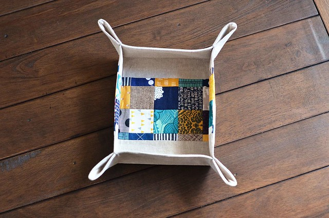 patchwork baskets