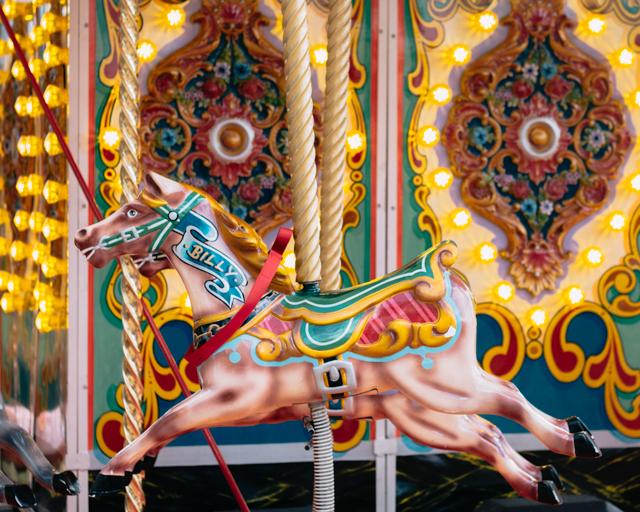 colourful carousel horse