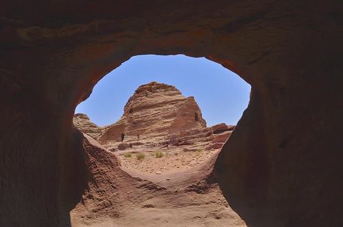 door mountains stone carved view petra jordan opening cave tombs insideout sculptedbuildings