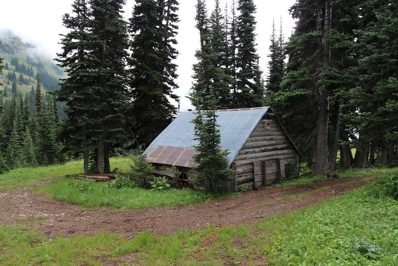 Old mining cabin in the Indiana Basin north of the Barron mining ghost town