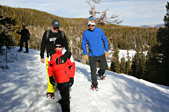 Snow shoeing at Rocky Mountain National Park