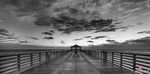 sky bw nature monochrome clouds sunrise landscape outdoors blackwhite nikon florida scenic full frame jupiter fx atlanticocean d800 waterscape junobeachpier southeastflorida nikond800 junobeachfl nikkor160350mmf40