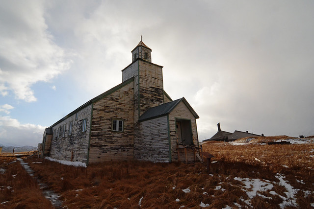 Abandoned church on Adak Island, Alaska from Flickr via Wylio