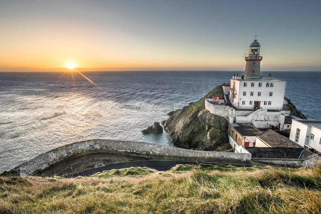 Sunrise in Baily lighthouse, Dublin, Ireland picture