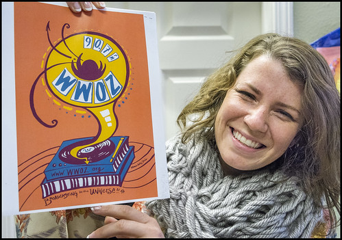 Monica Kelly, designer of the WWOZ Flag! Photo by Marc PoKempner