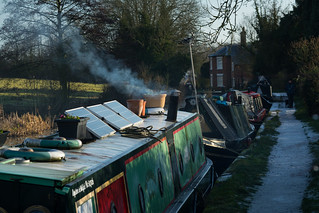 20141231-20_Braunston - Moored Narrow Boats Grand Union Canal