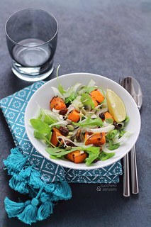 Grilled pumpkin and fennel salad