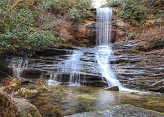 Raven Rock Falls - a jewel located in the upper section of the Toxaway River, near the east entrance to Panthertown Valley