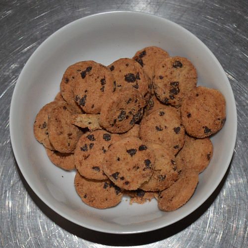 A bowl full of Mini Chips Ahoy.