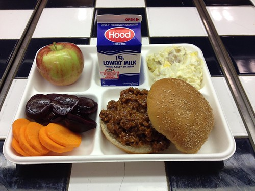 Yarmouth School Department's seasonal spread featured Sloppy Joe's made with Maine Beef, local beets, carrots, apples, and potato salad.