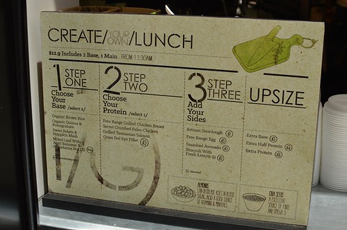 Create your own lunch menu