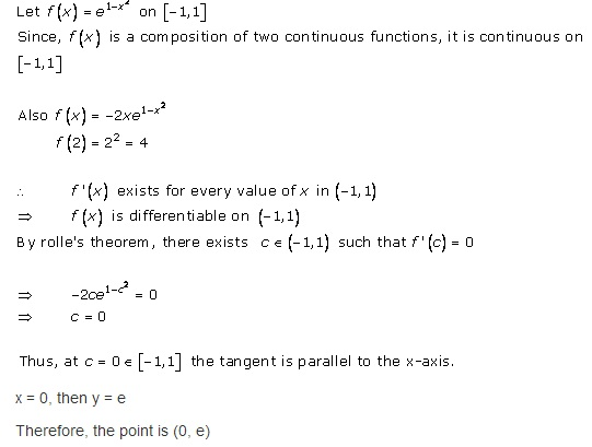 Free Online RD Sharma Class 12 Solutions Chapter 15 Mean Value Theorems Ex 15.1 Q8-ii