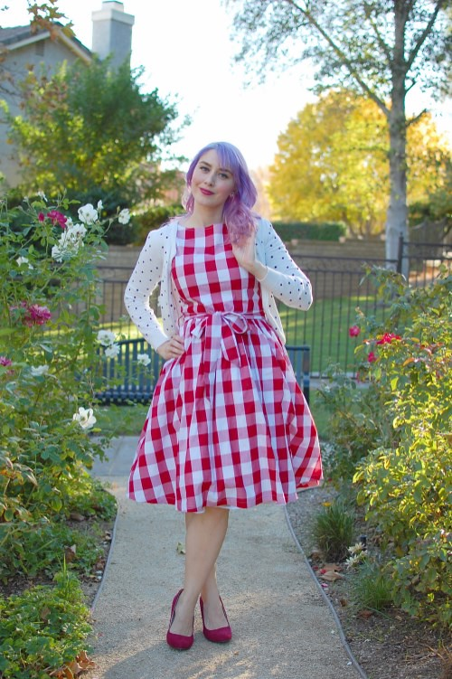 Lindy Bop Audrey dress in Red Gingham 003