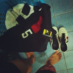 Post friendly game laundry. Good game indeed, a very good game #PBversusShellDRM #officefootie #stinkylaundry #baukangkang