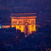 Arc de Triomphe, Paris, from Tour Montparnasse by stshank