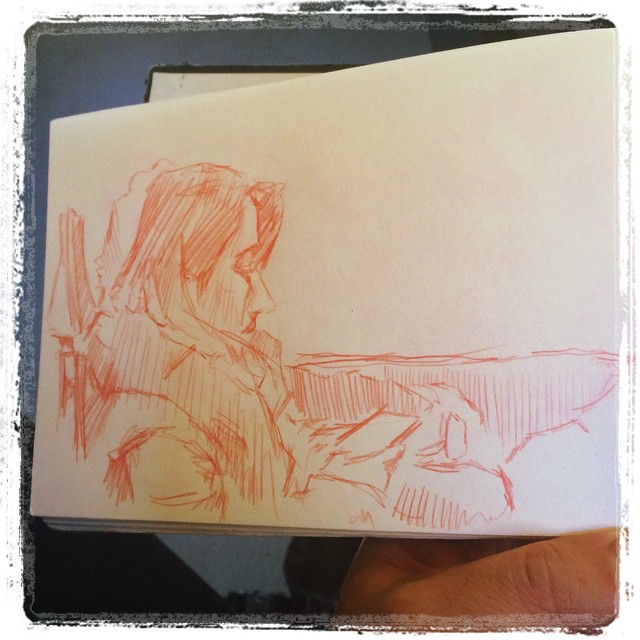 #urbansketch #kurutoga #uni #train #portraits #pencil