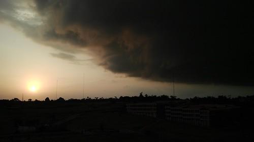 sunset sky cloud sun darkness overcast rainclouds