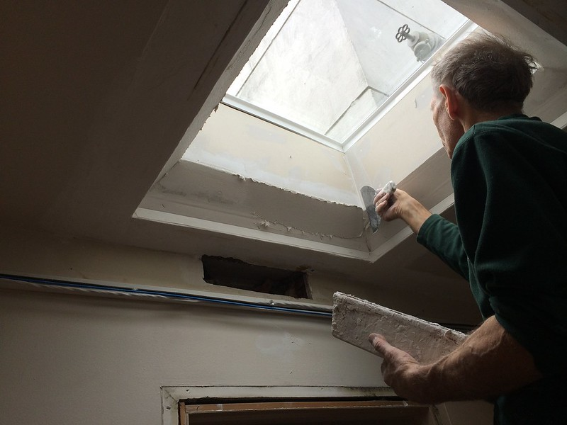 Installing sky light to illuminate the hallway