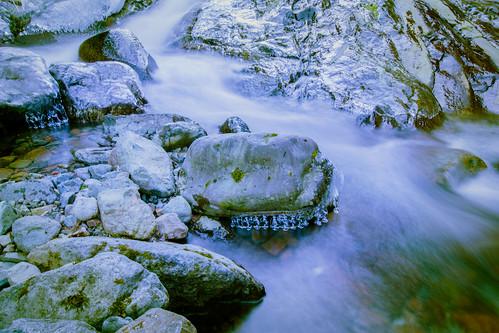 cold ice creek waterfall boulders slippery olalliestatepark hallcreek hallcreekwaterfall