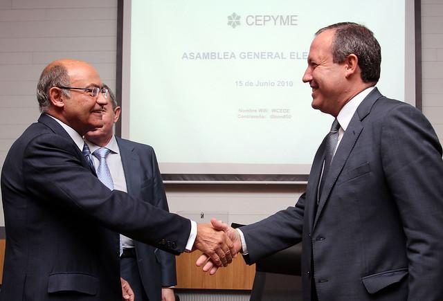 Jesus Terciado y Diaz Ferrán en su elección como presidente de CEPYMe