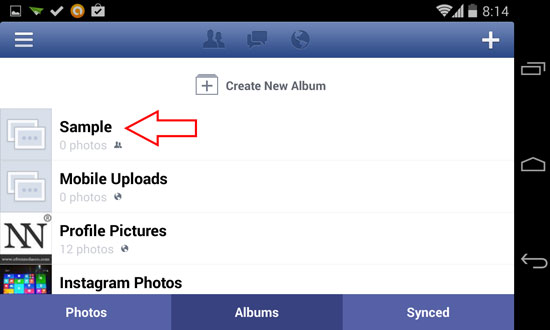 How to Upload Photos or Pictures on Facebook using Android device 2