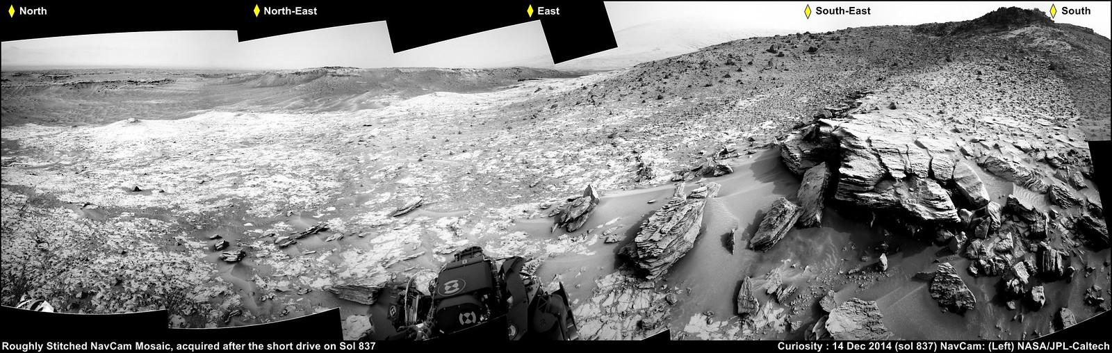 Mars : Curiosity Rover - Whale Rock Mosaic