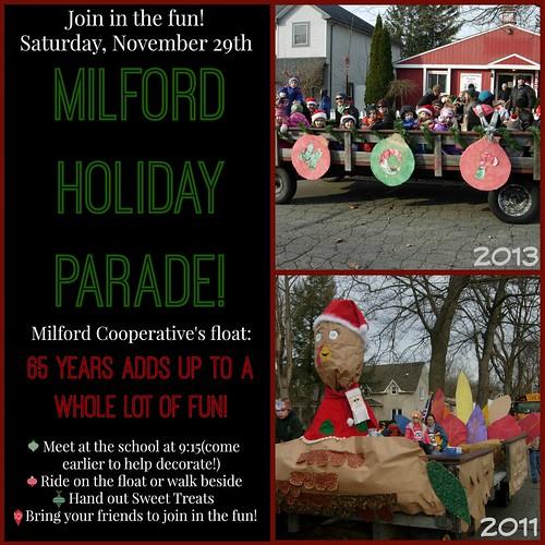 Milford Parade poster