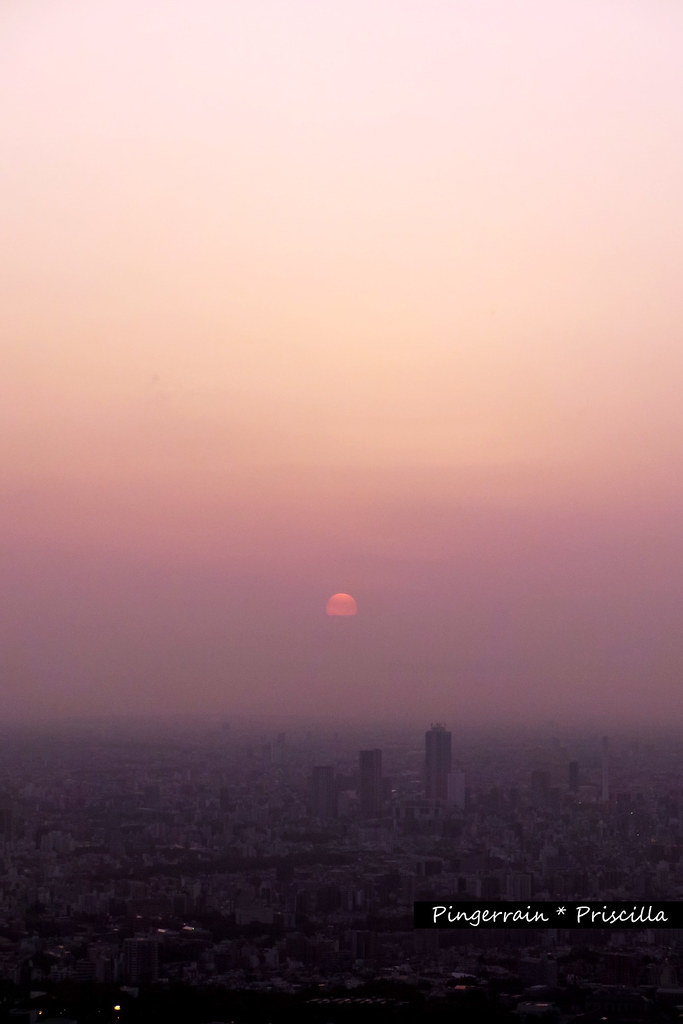 Tokyo Sunset from Tokyo Skytree