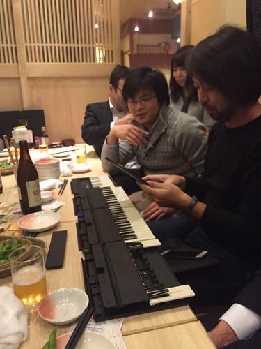 Miselu C.24を複数台接続する吉川さん