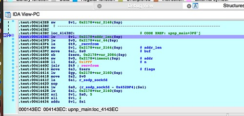 debugger hits breakpoint in upnp_main()