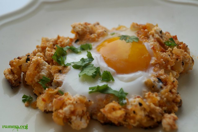 çökelekli yumurta