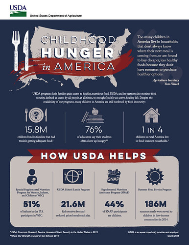 Childhood Hunger in America infographic. Click to enlarge.