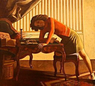 """Solitaire"" (1943) - Baltusz Klossowski de Rola (1908-2001) - Art Institute of Chicago - 10 Jan 2015 - 131"