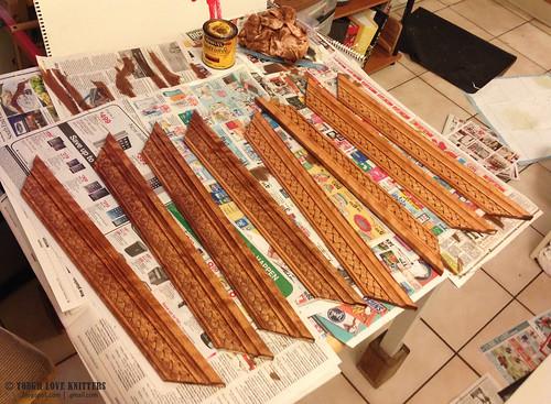 Thread Boards - Staining Trim