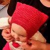My niece looks so cute in the hat I made for her!