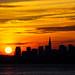 Full sunrise over SF skyline