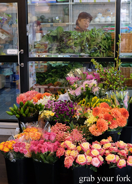 Fresh flowers at Jarern Chai Asian Grocer, Sydney
