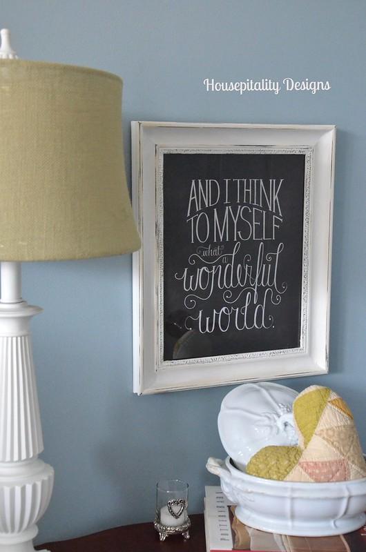 Guest Room Chalkboard Print-Housepitality Designs