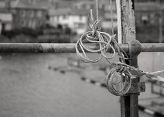 Mousehole Harbour bw