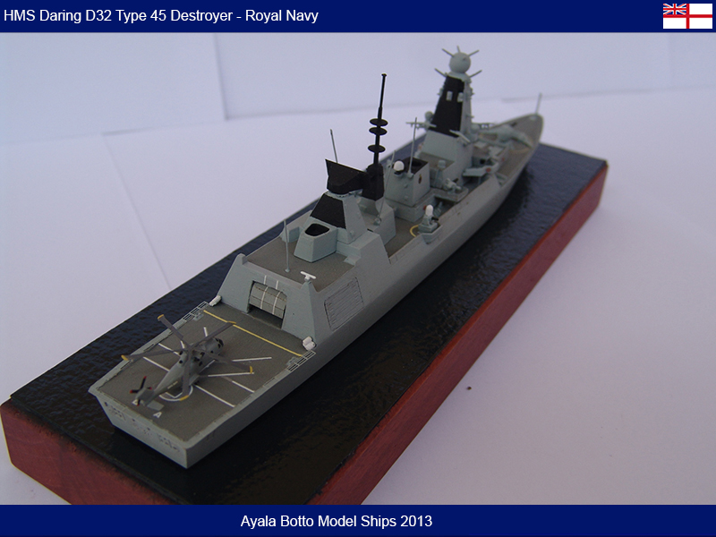 HMS Daring D32 Type 45 Destroyer Royal Navy - Cyber Hobby 1/700 16487658358_a425e90b2a_c