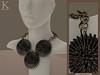 (Kunglers Extra) Frida Forever - Obsidian necklace