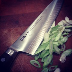 Test driving new knife from @togknives light and very sharp. #chefs