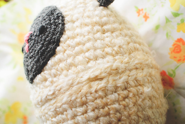crochet lamb egg texture