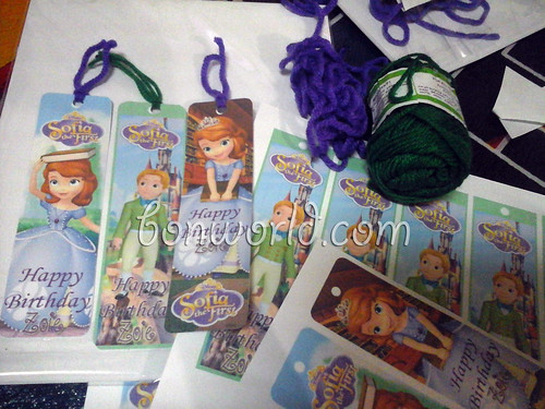 DIY Sofia the First Party Favor Bookmark02