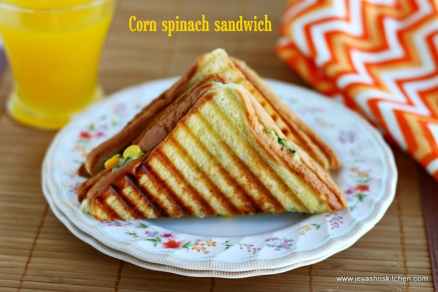 cheesy-corn spinach-sandwich