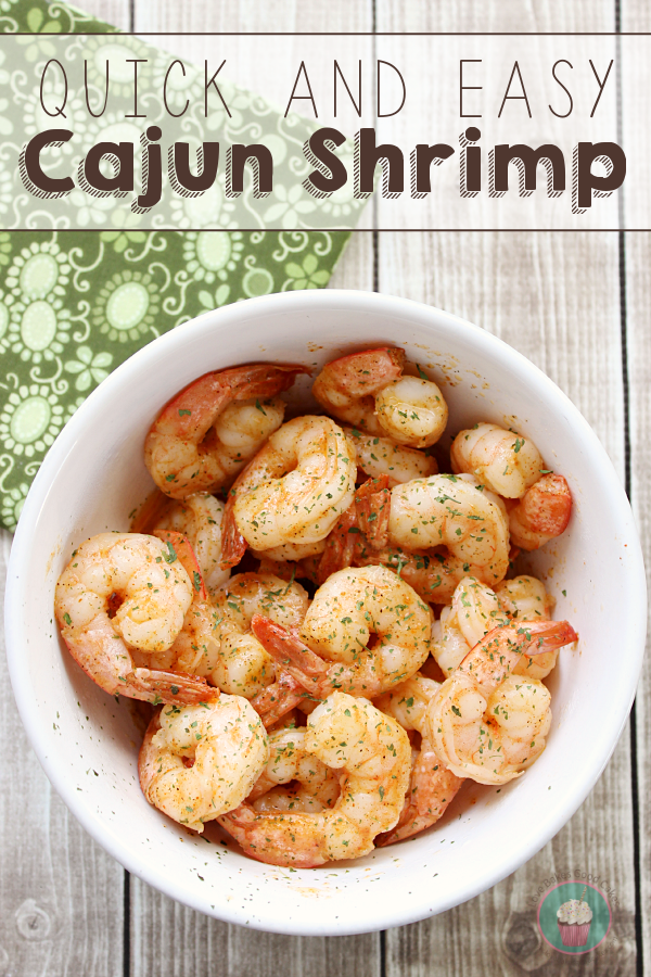 This Quick and Easy Cajun Shrimp recipe is perfect for a weeknight meal! You only need about 10 minutes to have this main dish on the table!